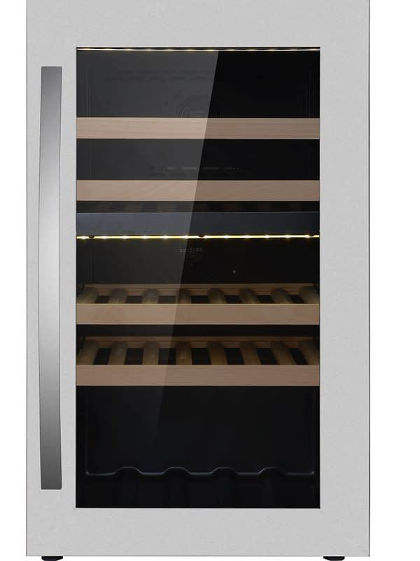 Smaak van de Wereld wijnklimaatkast - Wine Klima D40T RVS