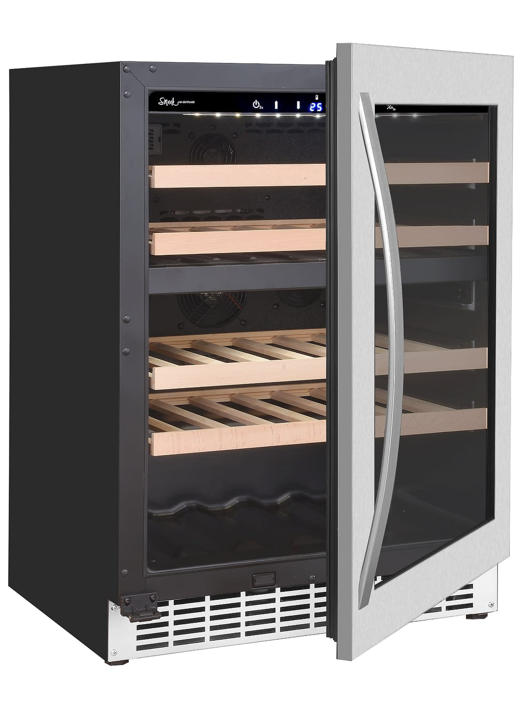 Smaak van de Wereld wijnklimaatkast - Wine Klima D46T-1D RVS